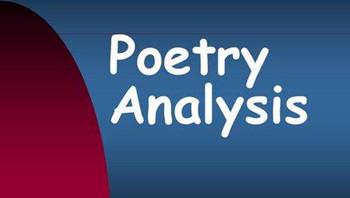 Poetry Analysis Essay写作技巧