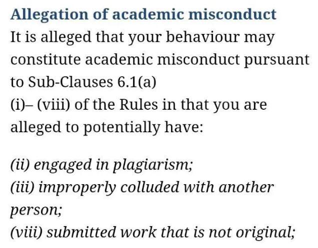 misconduct的调查原文