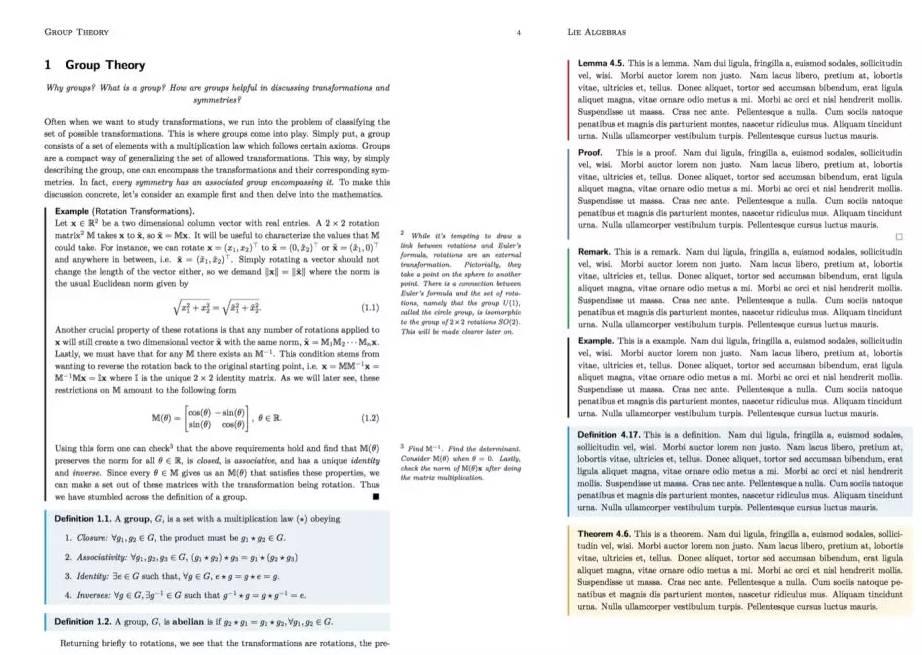 LaTeX排版示例