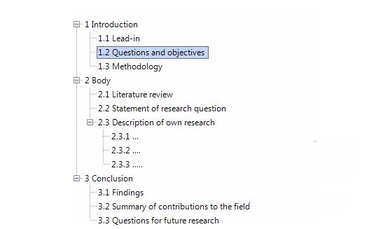 文献条目结构