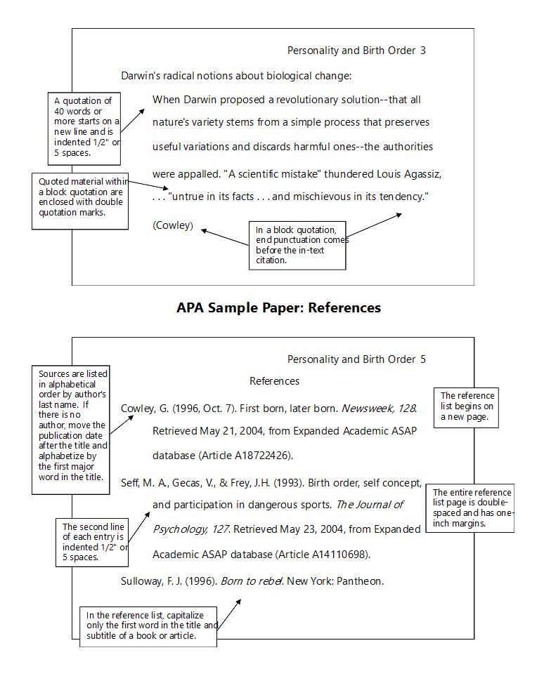 APA格式reference规范
