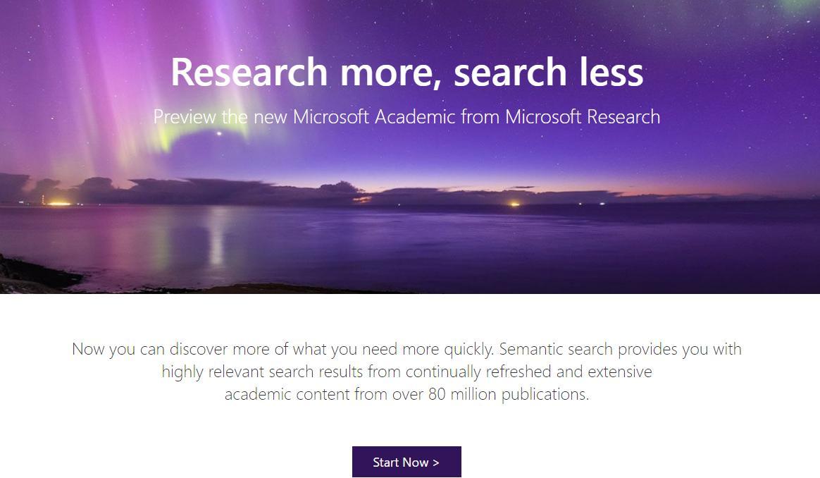 微软学术主界面