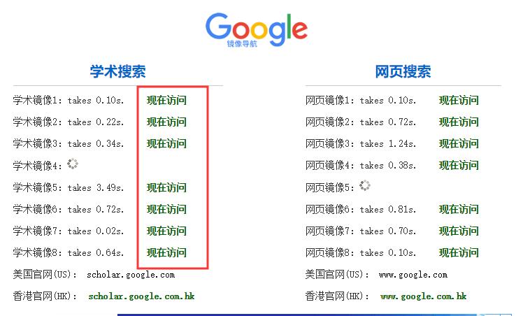 google scholar镜像