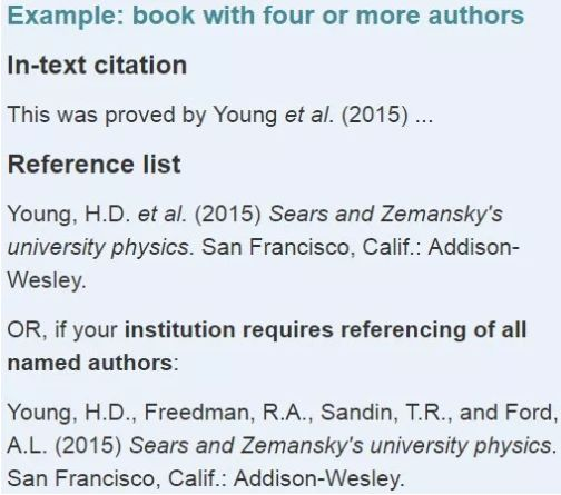 多个作者的书哈佛引用格式举例