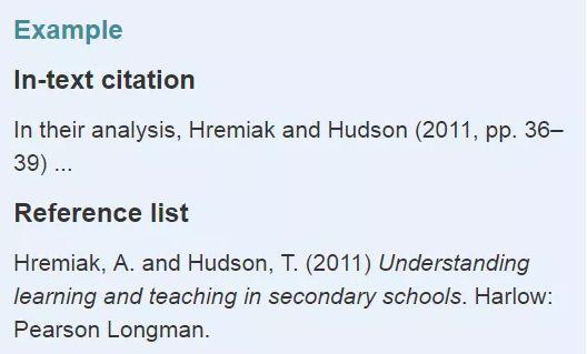 哈佛格式ebooks参考文献举例
