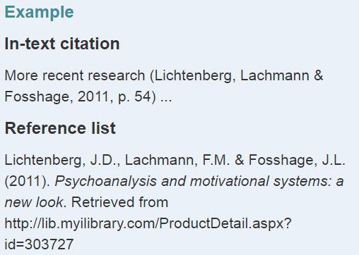 APA格式ebooks引用举例