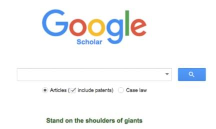 Google Scholar首页