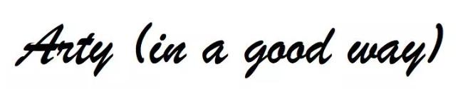 Brush Script字体示例