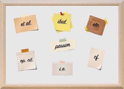 学术论文中常用的拉丁文缩写