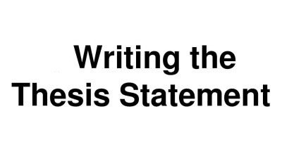 Thesis Statement是什么?