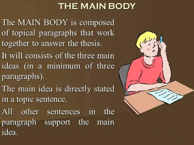 body部分写作技巧