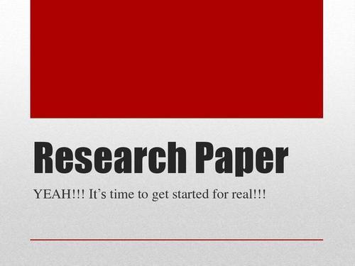 Research Paper写作注意事项