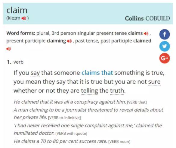 claim释义