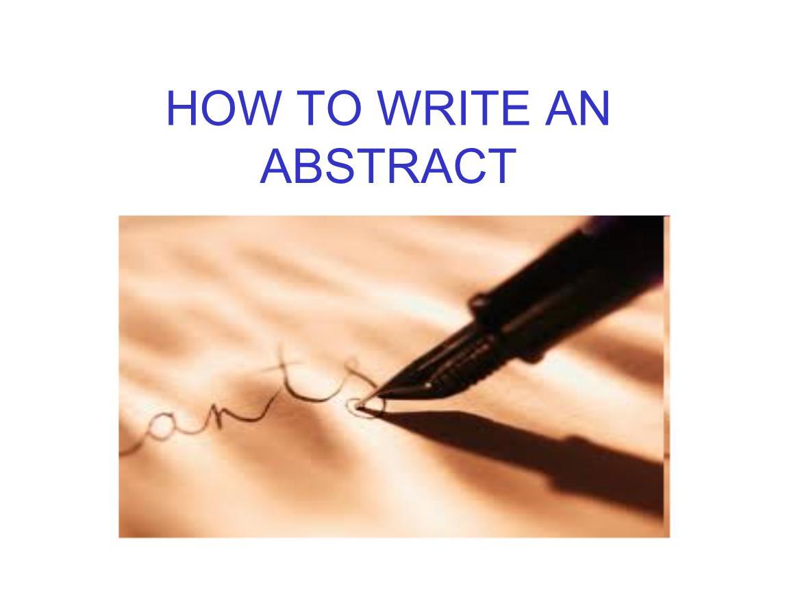 Abstract写作建议
