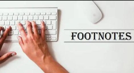 论文脚注(Footnotes)是什么?
