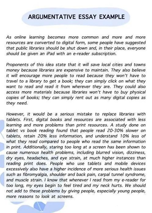 Argumentative Essay范文第一页