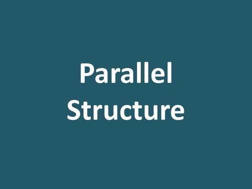 平行结构的用法