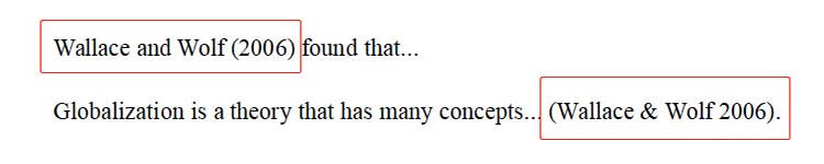 哈佛格式中两个或三个作者时文内引用格式示例