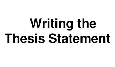 thesis statement的重要性