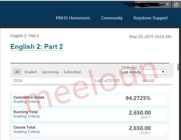 英语网课代修案例