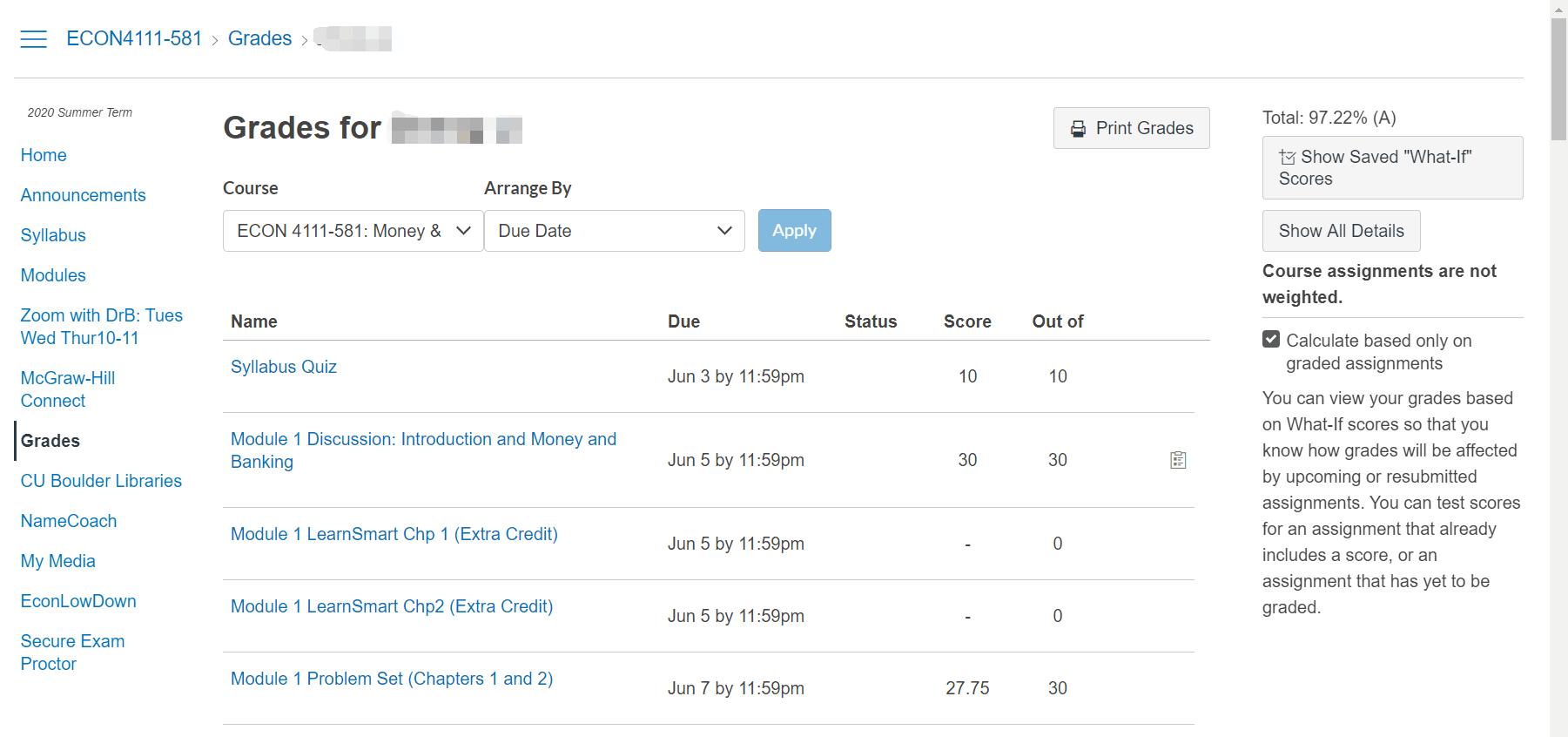 网课代修成绩截图