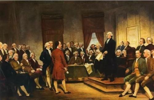 美国宪法起草场景