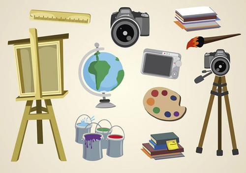 绘画与摄影的插图